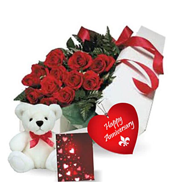 Rose Gift Box N Teddy