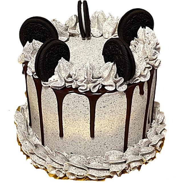 Scrumptious Cookies Cream Eggless Cake