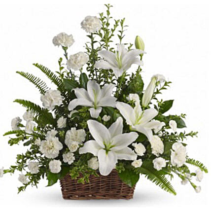 Serenity N Bliss Bouquet:Sympathy and Funeral Flowers to Canada