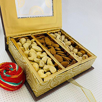 Special Assorted Dry Fruits Box With Mauli Thread