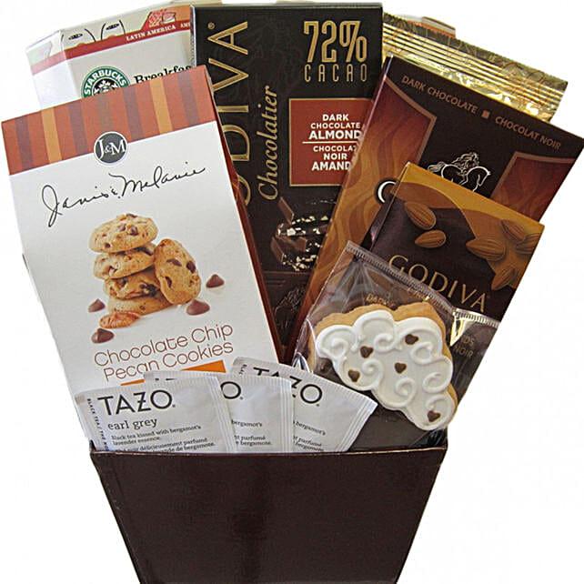 Starbucks And Godiva Coffee And Sweet Box:Diwali Gift Hampers