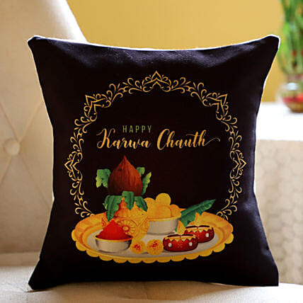 Printed Cushion For Karwa Chauth Online