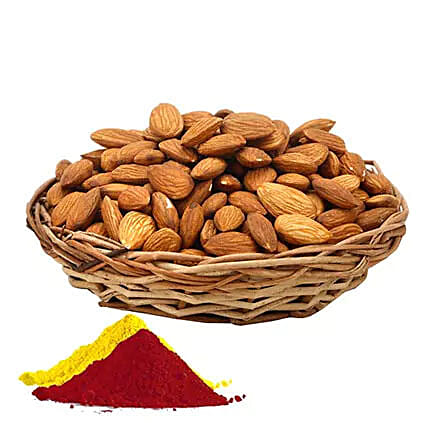 Almonds With Holi Colours