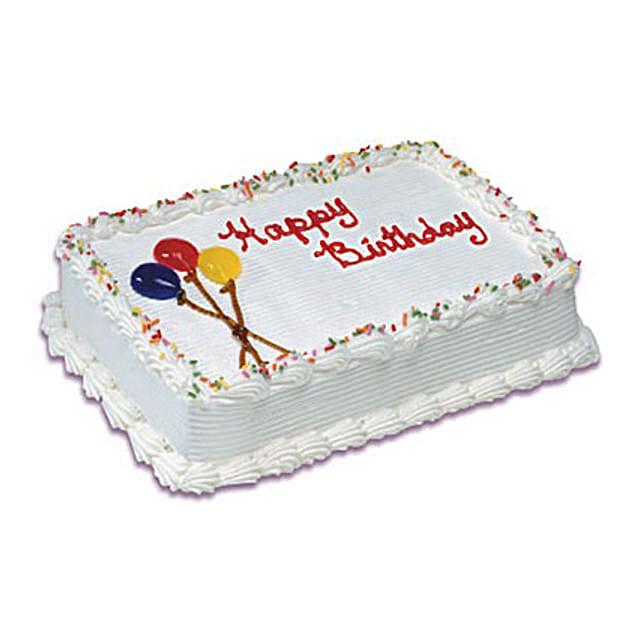 Birthday Special Vanilla Cake 1 Kg:Vanilla Cake Delivery in Canada
