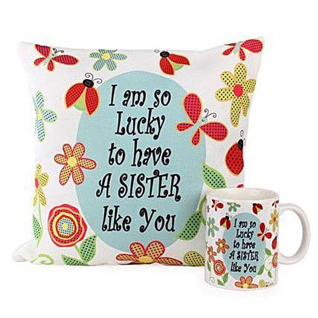 Cushion Mug For Sisters