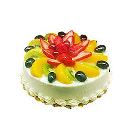 Sensational Fresh Fruit Cake 1Kg Funny Birthday Cards Online Overcheapnameinfo