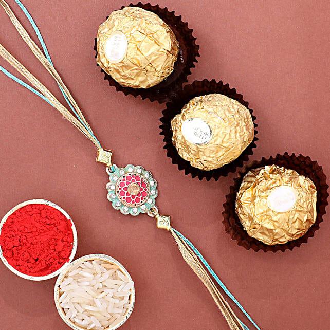 Stylish Rakhi N Ferrero Rocher 3 Pcs