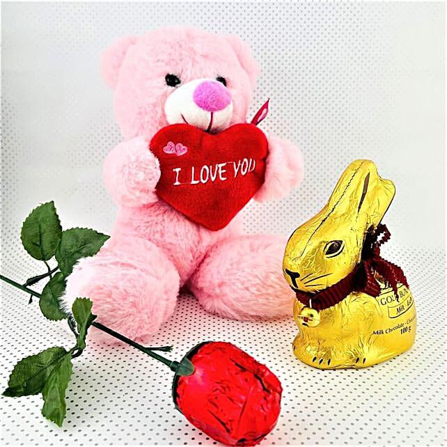 Bunny Chocolate With Love You Teddy:Canada Flowers