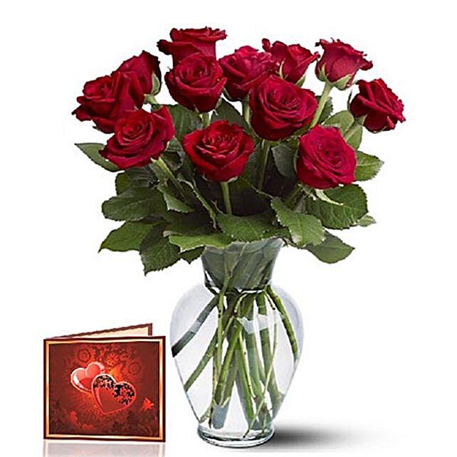 Sensual 12 Roses Arrangement