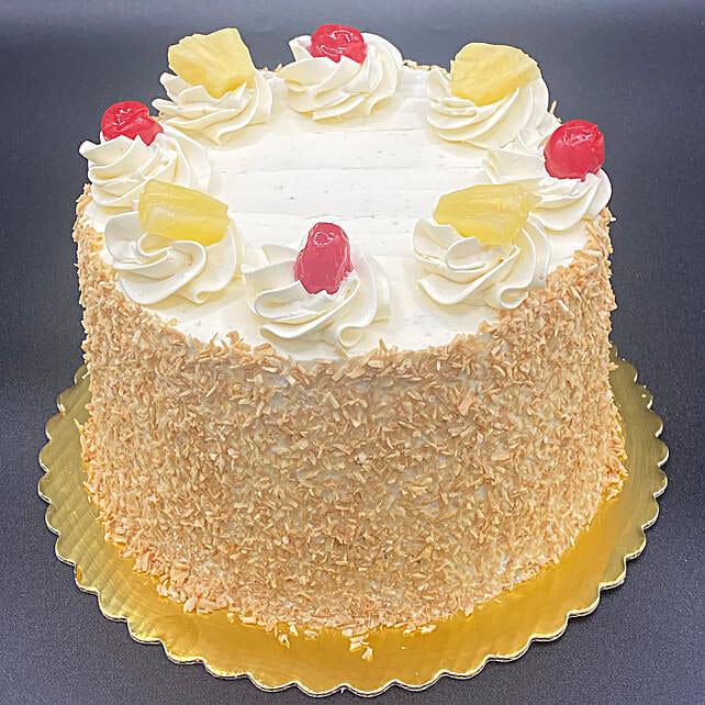 Luscious Pineapple Eggless Cake