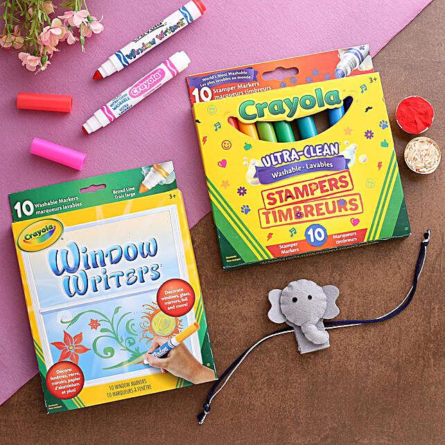 Elephant Kids Rakhi Hamper