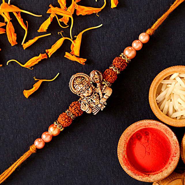 Hanuman Rudraksha Pearl Rakhi Set