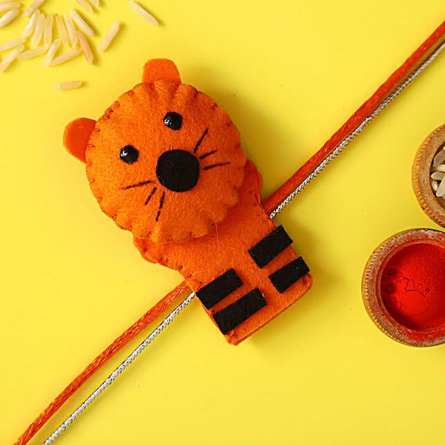 Tiger Shaped Rakhi For Kids