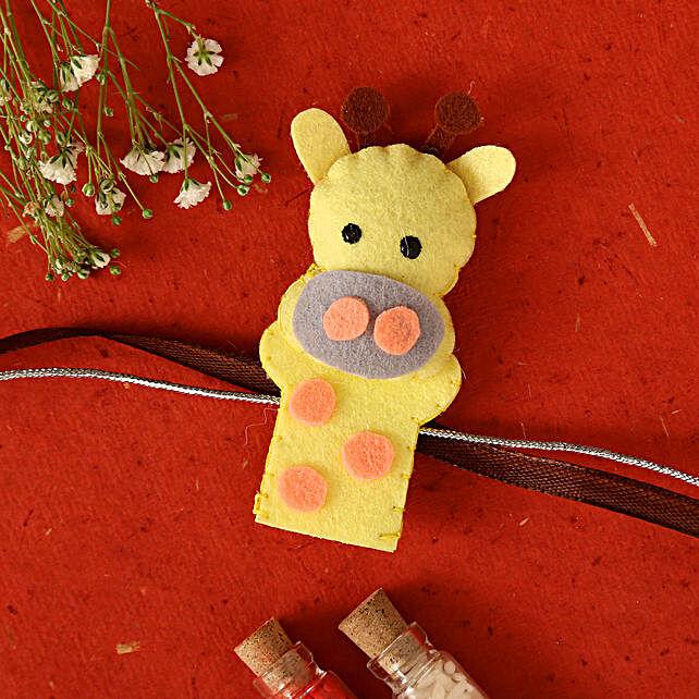 Giraffe Shaped Rakhi For Kids