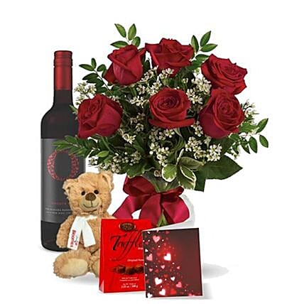 Wine And Shine Floral Gift Set