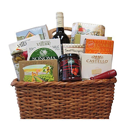 Wine And Snack Basket