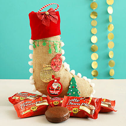 Choco Pie In Festive Xmas Stocking