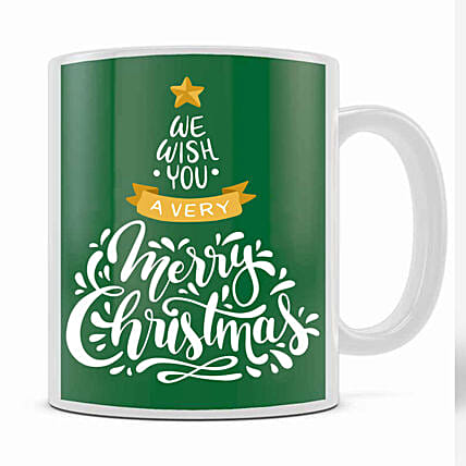 Xmas Greetings Green Mug