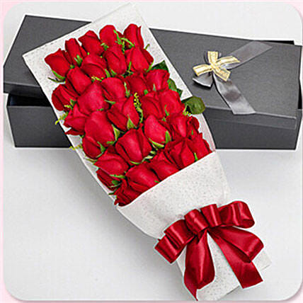 11 Red Roses Hand Bouquet