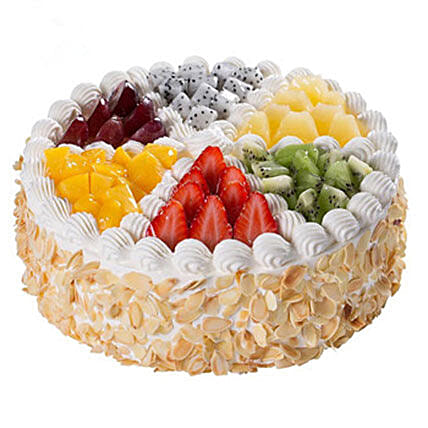 Colorful Fruits Cake:Send Valentines Day Gifts to China