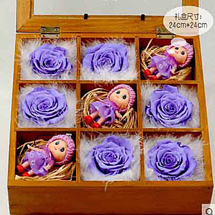 Gorgeous Purple Preserved Roses