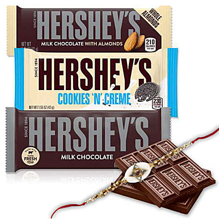 Rakhi And Hersheys Chocolates Combo