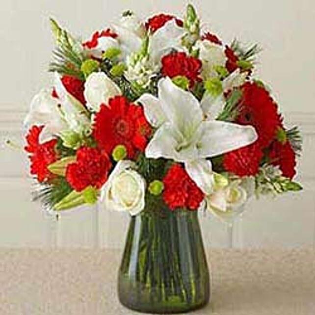 Red & white Vass arrangement -CIN
