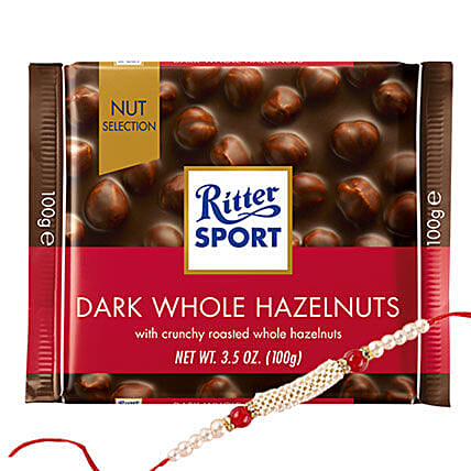 Ritter Chocolates And Rakhi Combo