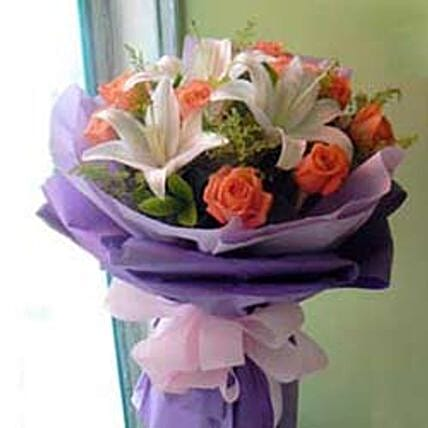 Rose Lily bouquet -CIN:Send Corporate Gifts to China