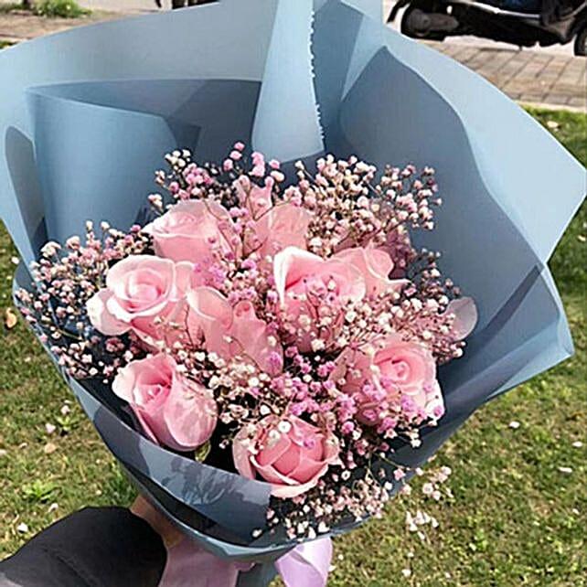 Pink Delight Rose Bouquet