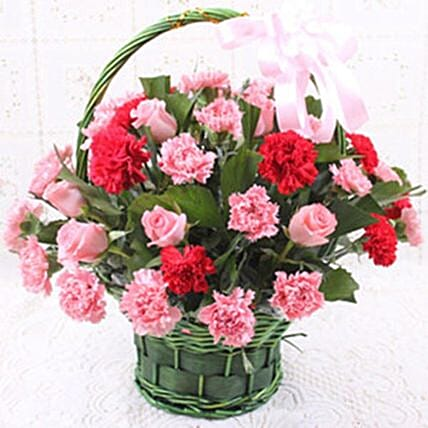 Carnations And Rose Love