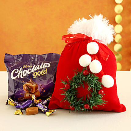 Choclairs Candy Filled Furry Red Pouch