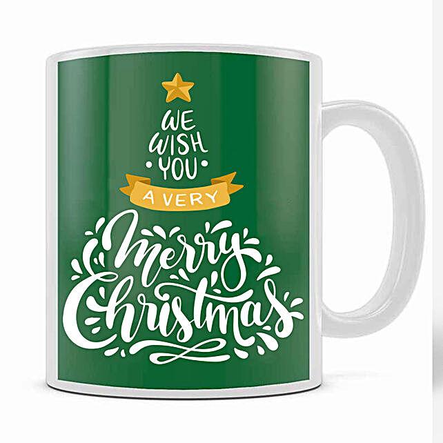 Xmas Greetings Green Mug