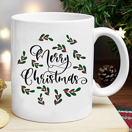 Pretty Merry Christmas Mug