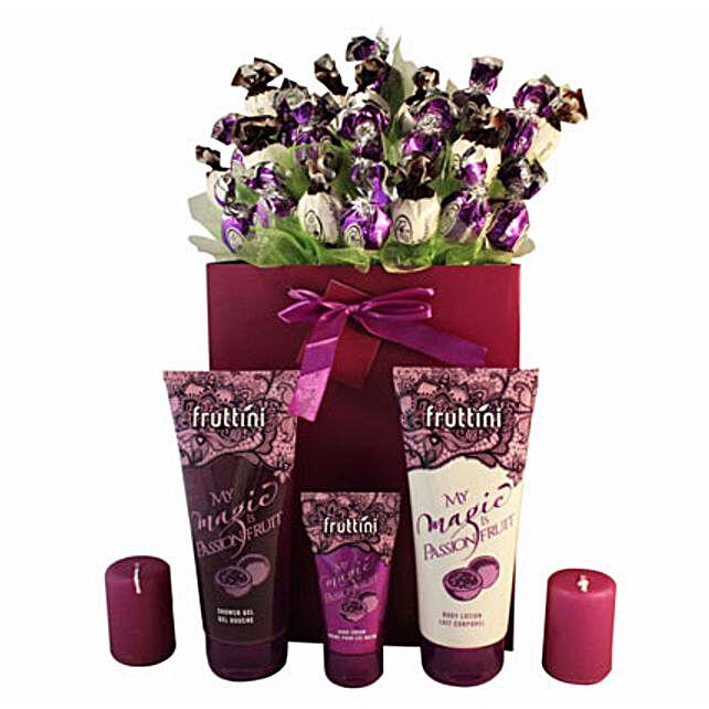 Deep purple with spa