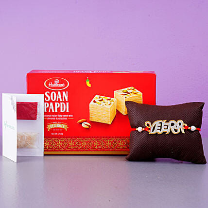 English Veera Rakhi And Soan Papdi:Send Rakhi to France