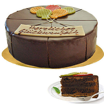 Delectable Dark Chocolate Cake:Send Anniversary Cakes to Germany