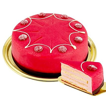 Dessert Raspberry Cake:Send Anniversary Cakes to Germany
