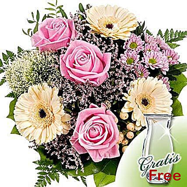 Flower Bouquet Ballade with vase