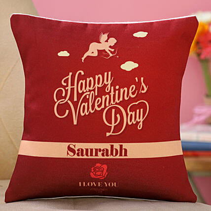 valentine day printed cushion online:Send Valentines Day Gifts to Germany