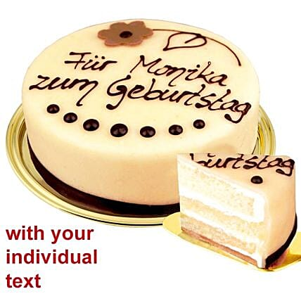 Luebecker Dessert Marzipan Cake With Individual Text