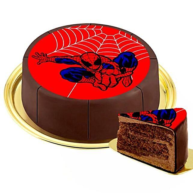 Motif Cake Spiderman