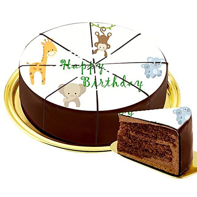 Motif Cake Zoo Animals