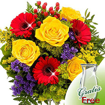 Flower Bouquet Blutenfee with vase