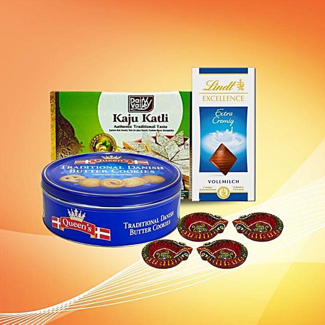 Tasty Diwali Treats With Diyas