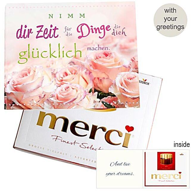 Personal Greeting Card With Merci Nimm Dir Zeit 250G