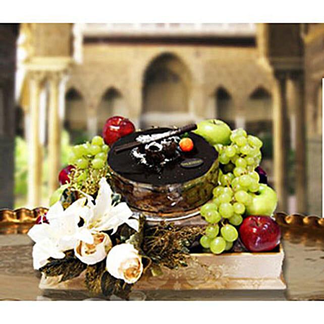 Cake And Fruit Hamper