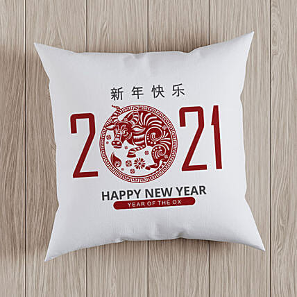Chinese New Year Wishes Printed Cushion:Send Chinese New Year Gifts to Indonesia