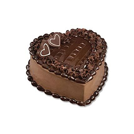 Chocolate Heart Cake:Send Cakes to Indonesia