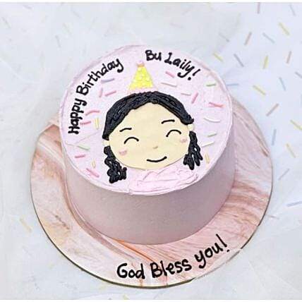 Cute Girl Blackforest Cake